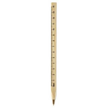 Bolígrafo con regla
