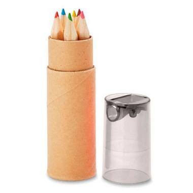 6 lápices de color en tubo Petit lambut