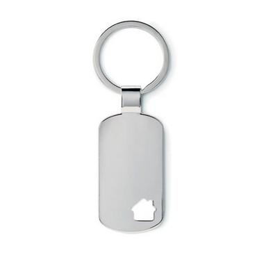 Llavero metálico con detalle House key