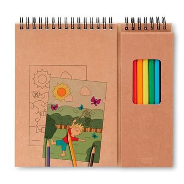 Set de lápices y cuaderno Colopad
