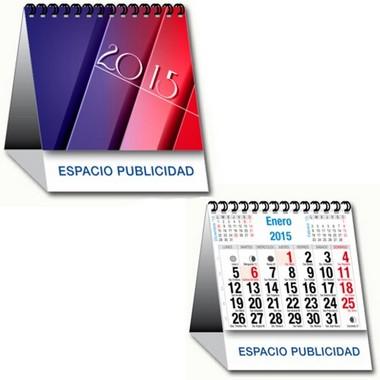 Calendario mensual de sobremesa con espiral pequeño