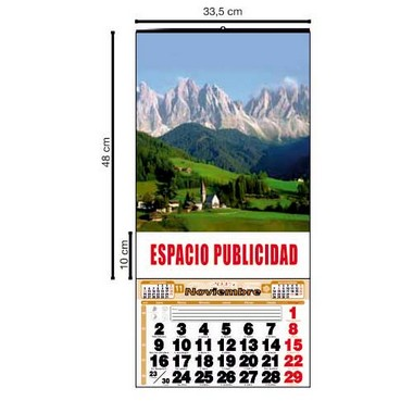 Calendario mensual de pared de 33,5cm