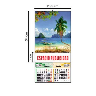 Calendario bimensual de pared de 23,5cm