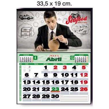 Calendario de pared a todo color de 33,5 cm