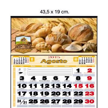 Calendario de pared a todo color de 43,5 cm