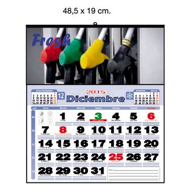 Calendario de pared a todo color de 48,5 cm