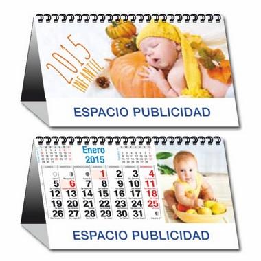 Calendario sobremesa mensual con espiral