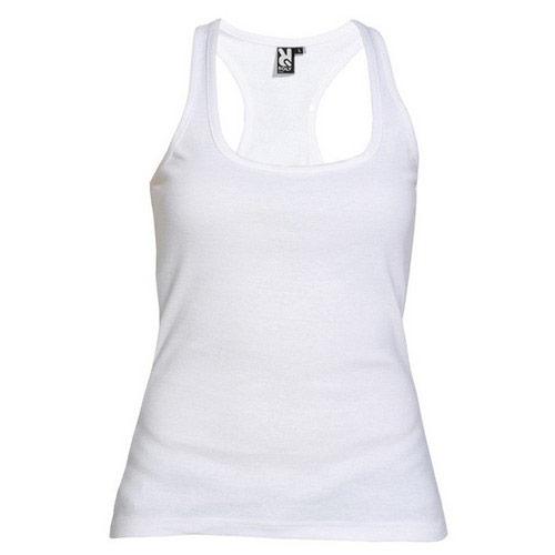 Camiseta tirantes Roly Carolina Blanca