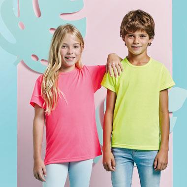 Camiseta Akita flúor para niños